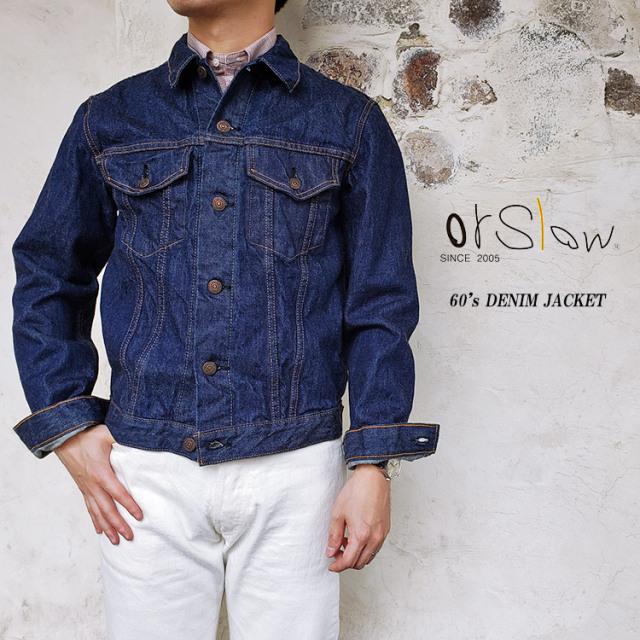 orSlow オアスロウ 01-6005 60's DENIM JACKET メンズ サード デニム ジャケット ワンウォッシュ 日本製 S/M/L 〔FL〕