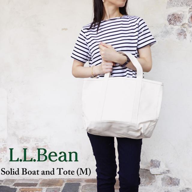 エルエルビーン L.L.Bean ビーントート トートバッグ ソリッド・ボート・アンド・トート Solid Boat and Tote M ソリッドボートアンドトート ミディアム ポケットなし ジップなし キャンバス レディース メンズ 308116