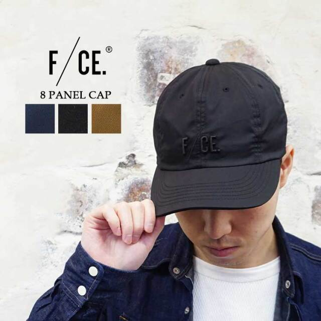 エフシーイー 8 PANEL CAP 8パネル キャップ メンズ レディース 新作 ネイビー/ブラック/ベージュ フリーサイズ F/CE. #F2001ACS0006