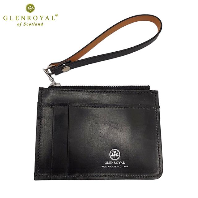GLENROYAL グレンロイヤル FRAGMENT CASE with STRAP フラグメントケース 03-5871 ブライドルレザー スコットランド製 コインケース カードケース ブラック