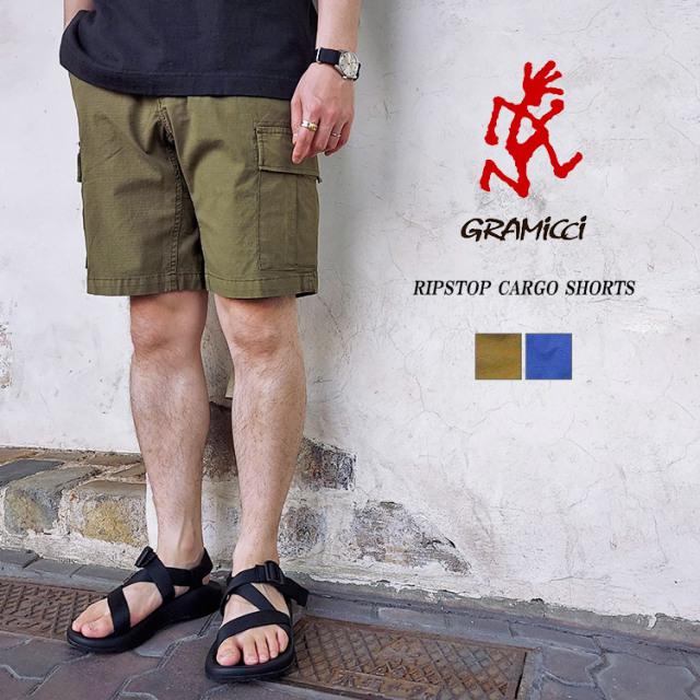 GRAMICCI グラミチ RIPSTOP CARGO SHORTS リップストップ カーゴショーツ GUP-21S052 コットン オリーブ ネイビー メンズ レディース ユニセックス〔FL〕