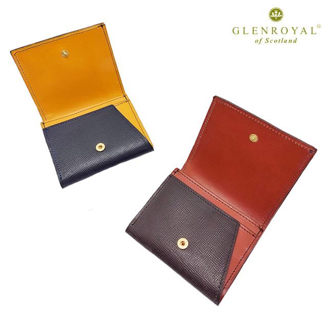 GLENROYAL グレンロイヤル Small fold wallet FLISCO別注カラー 03-5923 UTILITY LINE 折り財布 ブライドルレザー スコットランド製