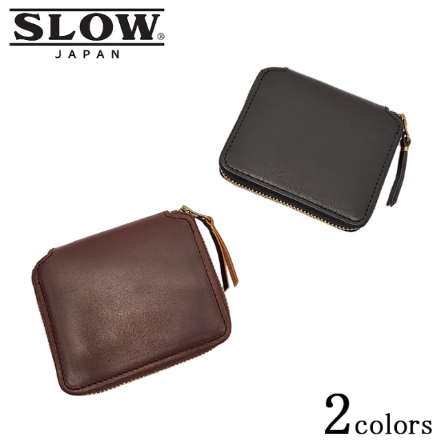 SLOW スロウ herbie mini round wallet ハービー ミニ ラウンド ウォレット SO737I レザー 山陽社製 ブラック ブラウン メンズ
