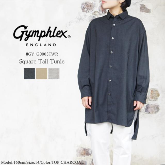 ジムフレックス スクエアテール チュニック シャツ レディース トップス Gymphlex Square Tail Tunic Shirts LADIES チャコール/ベージュ/グレージュ 14/M #GY-G0003TWR