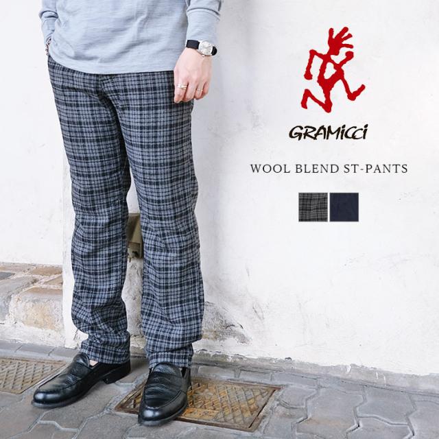 GRAMICCI グラミチ WOOL BLEND ST-PANTS ウールブレンド ST-パンツ GMP-21F058 チェック ウール メンズ 〔FL〕