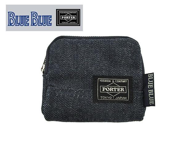 BLUE BLUE・PORTER デニムコインケース ポーター コインケース デニム