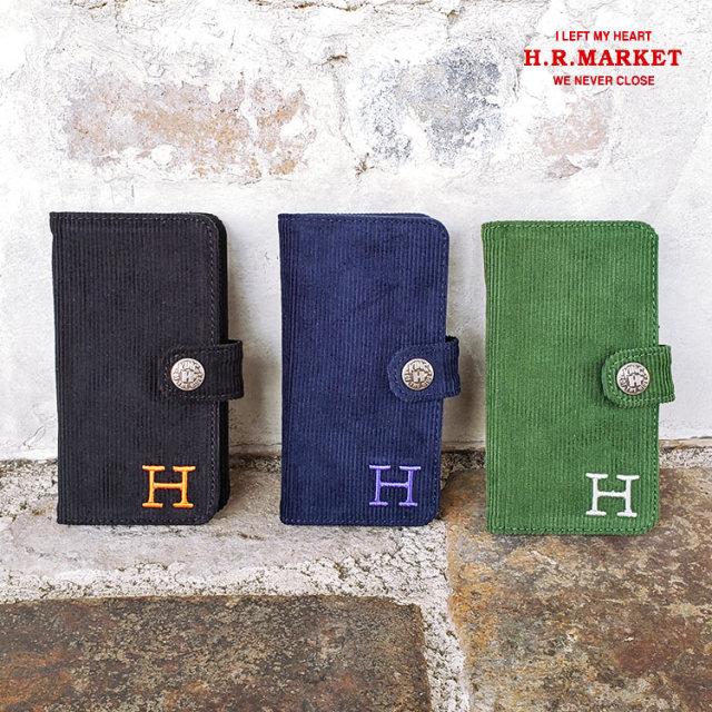 H.R.MARKET ハリウッドランチマーケットサマーコーデュロイ iPhone8 ダイアリーケース