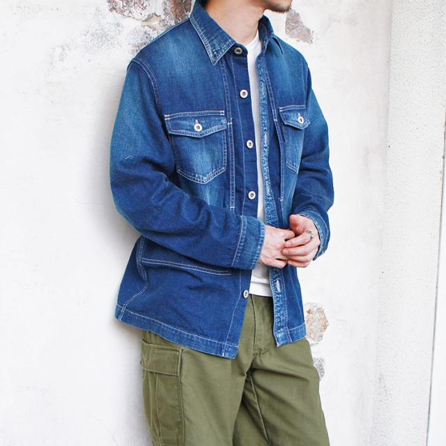 BLUE BLUE ST2193 ライトデニム ワイドシャツジャケット メンズ