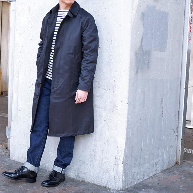 BLUE BLUE JK1853 ミリタリーウェザー ネイビーコート メンズ