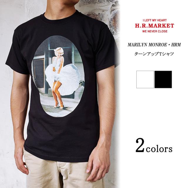 H.R.MARKET ハリウッドランチマーケット MARILYN MONROE マリリンモンロー ターンアップTシャツ