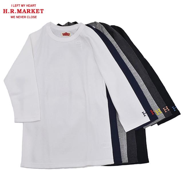 H.R.MARKET ハリウッドランチマーケット ストレッチフライス クルーネック ハーフスリーブTシャツ 七分袖