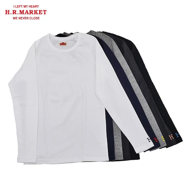 H.R.MARKET ハリウッドランチマーケット ストレッチフライス クルーネック ロングスリーブTシャツ 長袖
