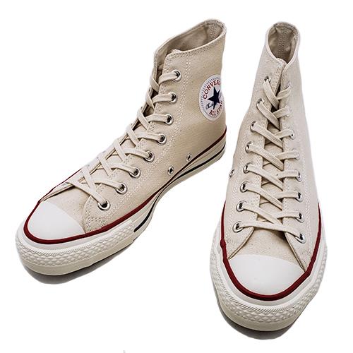 CONVERSE コンバース CANVAS ALL STAR J HI キャンバス オールスター ハイカット 日本製 ナチュラルホワイト