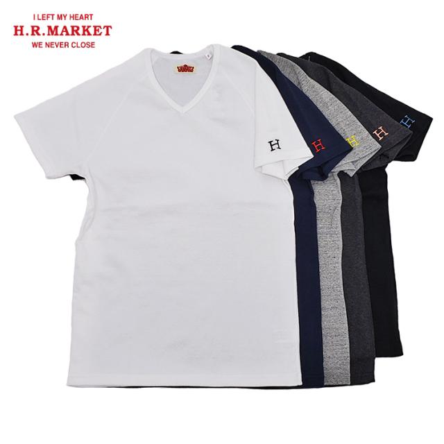 H.R.MARKET ハリウッドランチマーケット ストレッチフライス Vネック ショートスリーブTシャツ 半袖