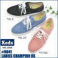 【送料無料】 Ked's (ケッズ) レディース スニーカー チャンピオン オックスフォード デニム 9041 〔SK〕