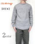 フィルメランジェ Filmelange DREW2 ドリュー2 クルーネック ロングTシャツ サーマル素材 メンズ オーガニックコットン〔FL〕