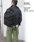SML エスエムエル メンズ レディース リュックサック SQUARE 2WAY RUCK SACK 907447 コーデュラナイロン BLACK ブラック  ユニセックス〔FL〕