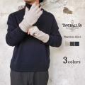 Inver Allan インバーアラン フィンガーレス グローブ メンズ レディース 秋冬 ウール100% オフホワイト/グレー/ネイビー 〔FL〕