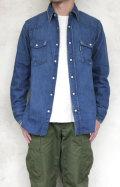 BLUEBLUE ST844 デニムUSED オーセンティックウエスタンシャツ