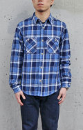 BLUE BLUE ST2139 インディアンインディゴチェックワークシャツ
