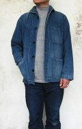 BLUE BLUE JK1809 ライトデニム ショールカラー ユーズドネイビージャケット