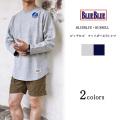 BLUE BLUE ブルーブルー RUSSELL ビッグロゴ フットボールTシャツ