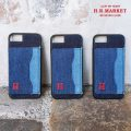 H.R.MARKET ハリウッドランチマーケット I Phone DENIM PATCH STAND CASE
