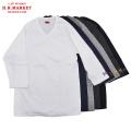 H.R.MARKET ハリウッドランチマーケット ストレッチフライス Vネック ハーフスリーブTシャツ 七分袖