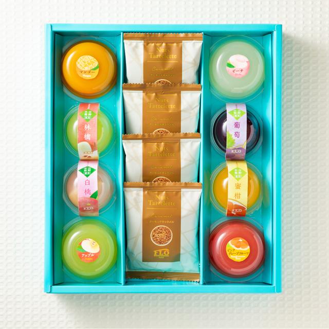 2種(果実・くずきり)のジュレ&焼き菓子ギフト〈12個〉
