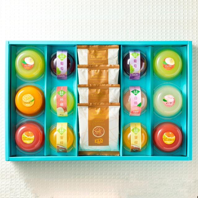2種(果実・くずきり)のジュレ&焼き菓子ギフト〈16個〉
