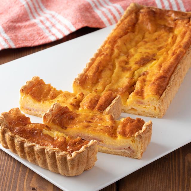 ベーコンとチーズのキッシュ