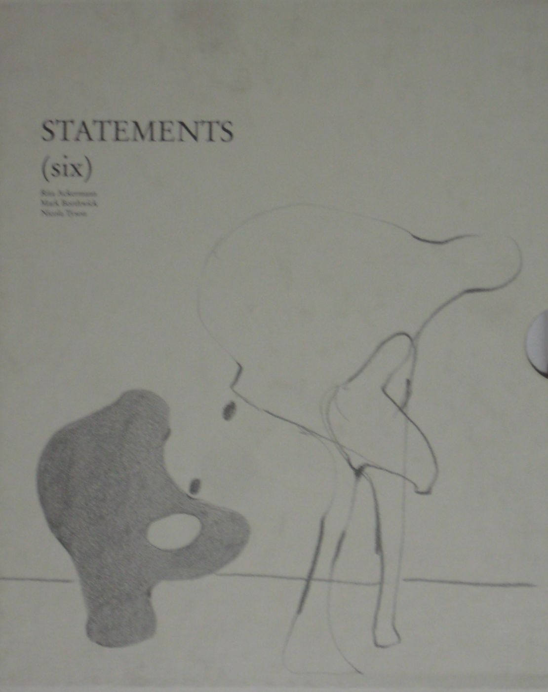 【古本】STATEMENTS (SIX) RITA ACKERMANN MARK BORTHWICK NICOLA TYSON