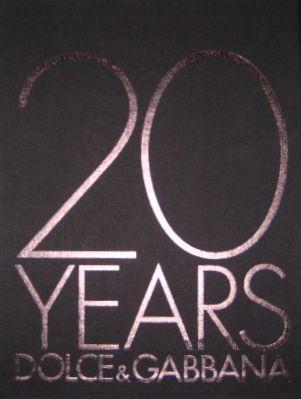 20 YEARS OF DOLCE & GABBANA ドルチェ&ガッバーナ作品集
