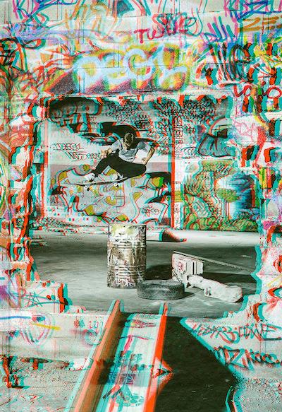 セバスティアン・デンツ写真集: SEBASTIAN DENZ: SKATEBOARDING 3D