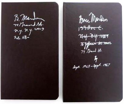【古本】ブライス・マーデン作品集: BRICE MARDEN: NOTEBOOK Sept. 1964-Sept. 1967/NOTEBOOK Feb. 1968- 【2冊セット】