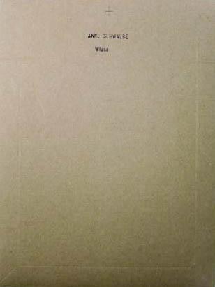 【古本】アンネ・シュヴァルベ写真集 : ANNE SCHWALBE : WIESE【サイン入】