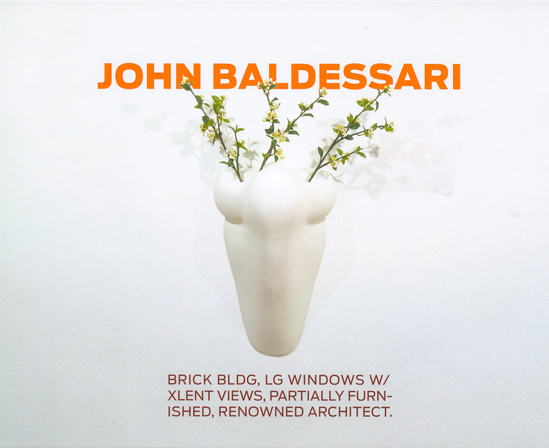 ジョン・バルデッサリ作品集: JOHN BALDESSARI: BRICK BLDG, LG WINDOWS W/XLENT VIEWS, PARTIALLY FURNISHED, RENOWNED ARCHITECT