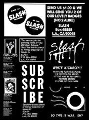 SLASH: A PUNK MAGAZINE FROM LOS ANGELES 1977-80