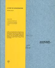 ジョージ・セリー作品集: GEORGE SELLEY: A STUDY OF ASSASSINATION