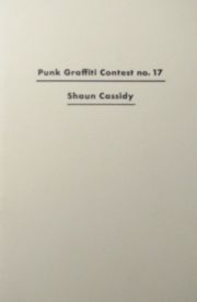 【古本】PUNK MAGAZINE : PUNK GRAFFITI CONTEST NO.17  SHAUN CASSIDY