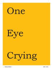 ロバート・リオン写真集: ROBERT LYON: ONE EYE CRYING