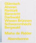 【古本】ミシャ・デ・リッダー写真集 : MISHA DE RIDDER: ABENDSONNE