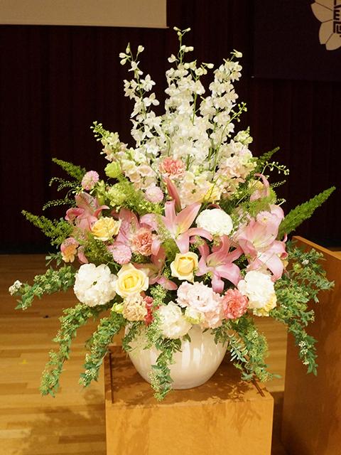 入学式壇上花
