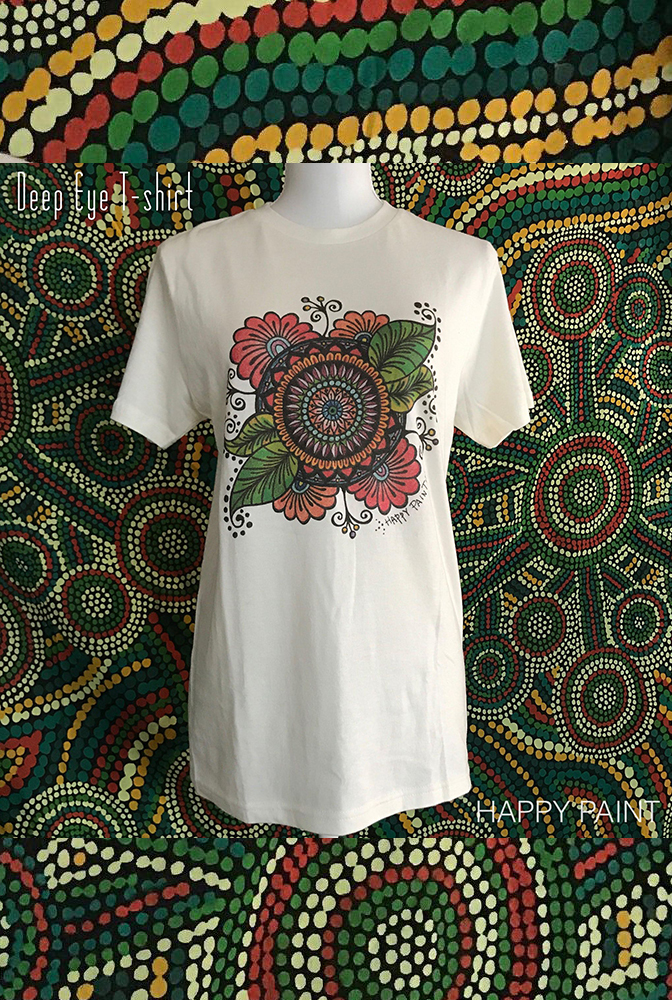 【HAPPY PAINT】Deep Eye -color- T-shirt  ※割引クーポン、セール対象外商品