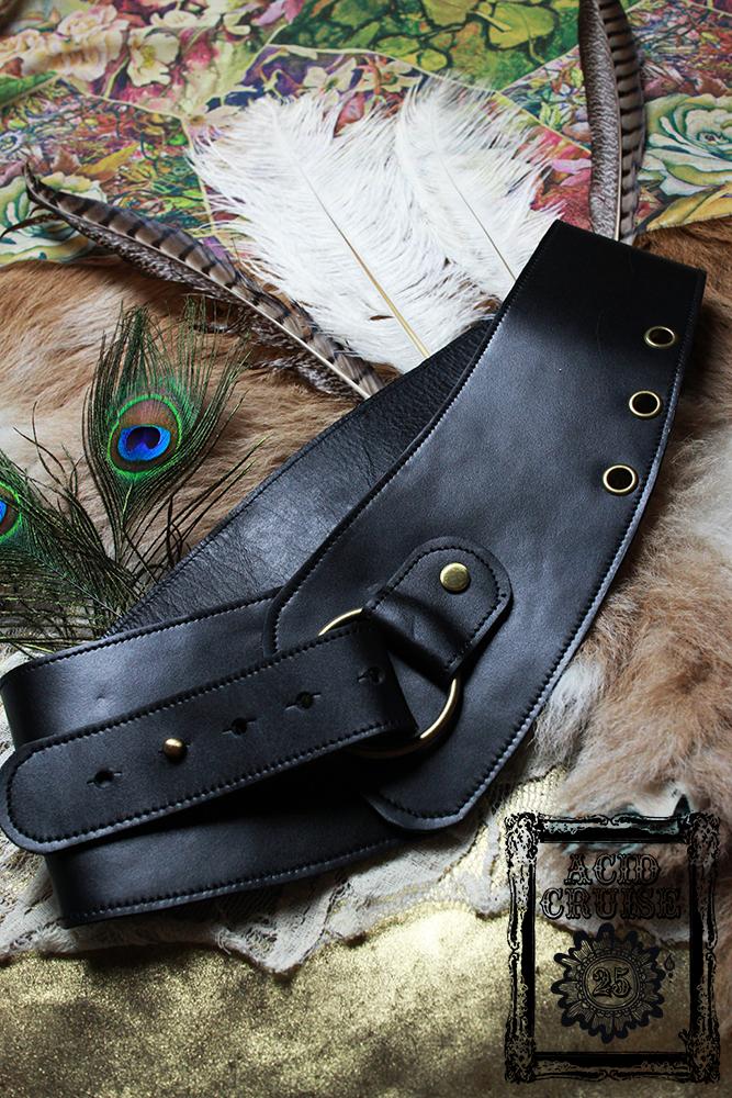 【Acid Cruise】Nocturnality leather belt/One ring【カラー*ブラック】 レザーベルト/太ベルト