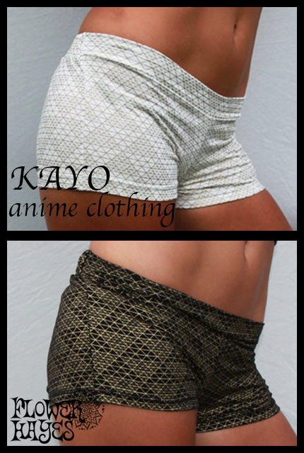 KAYO-Anime Clothing【Pyramid shorts/ショートパンツ】2color*BLACK/WHITE*S Mサイズ
