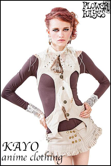 KAYO-Anime Clothing【Cotton mini skirt belt/スカートベルト】2color*BLACK/BEIGE*海外サイズ/XS Sサイズ 日本人サイズ/S~M M~Lサイズ