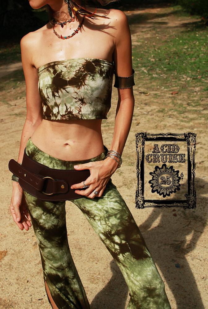 【Acid Cruise】Dark forest bare top【3カラー*Aフォギーグレーブラック/Bサンディーダークブラウン/Cウッディーグリーンブラウン】フリーサイズ