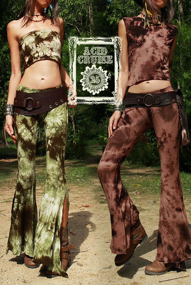 【Acid Cruise】Dark forest long pants【3カラー*Aフォギーグレーブラック/Bサンディーダークブラウン/Cウッディーグリーンブラウン】フリーサイズ