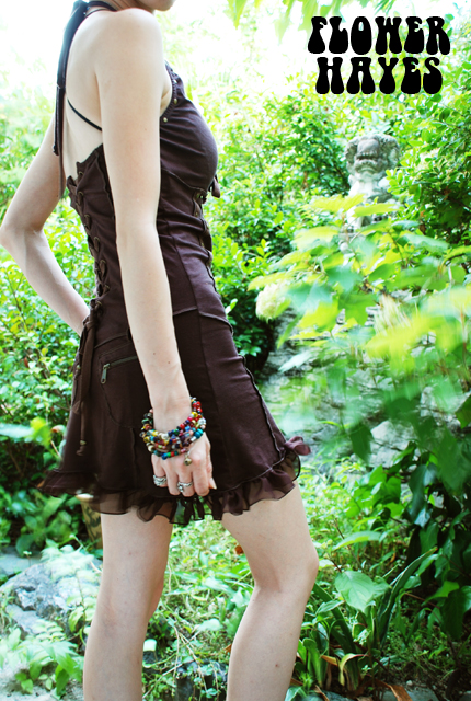 Kurage eye【SANDRA DRESS/ワンピース】3color BLACK/BROWN/KHAKI  size S/M/L